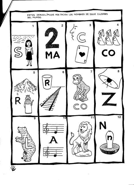 Actividades De Juegos De Lógica Hoja 6